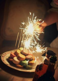 Sparkler Candles Just Desserts Birthday Sparklers Macaroons Dessert