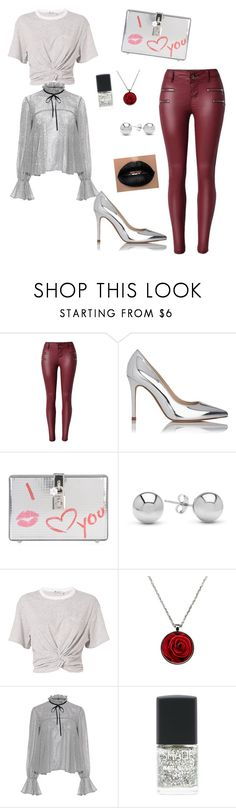 """""""Platinum body"""" by disorderly-fashion ❤ liked on Polyvore featuring L.K.Bennett, Dolce&Gabbana, Jewelonfire, T By Alexander Wang, Saloni and Lane Bryant"""