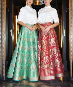 #CurrentlyCrushingOn these lehengas by Abhishek Gupta. If you need them in your wardrobe just as much as we do then head to his recently launched flagship store in Defence Colony, New Delhi