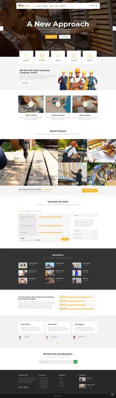 Renovator is a modern WordPress theme made for all repairmen, contractors and renovation companies. #wordpress #theme #layout #design #webdesign #webdesigninspiration #responsive #uxdesign #uidesign #website #wordpresslove #masonry #masonrylayout