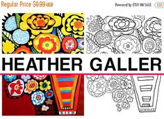 75% Off TODAY- Flowers coloring, coloring book, adult coloring book, coloring pages, adult coloring pages, for adults, printable coloring pa