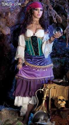 Deluxe Tarot Card Gypsy Costume, Sexy Gypsy Costume, Sexy Tarot Card Reader Costume