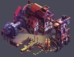 ArtStation - Dwarven manufactory, Matthew Mizak