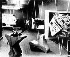 Taken at Art of This Century Gallery, 1943