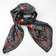 Keep it jaunty! In this Brioni navy Roma floral handmade silk scarf!  |  Go Shopping! http://www.frieschskys.com/accessories/scarves  |  #frieschskys #mensfashion #fashion #mensstyle #style #moda #menswear #dapper #stylish #MadeInItaly #Italy #couture #highfashion #designer #shopping