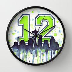 Seahawks Man Fan Art Wall Clock by Olechka Seattle Seahawks Logo, Seattle Skyline, Bedroom Themes, Bedroom Ideas, Bottle Cap Art, Woman Cave, 12th Man, Boy Room, Getting Organized