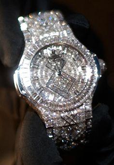 Hublot watch with 1,282 diamonds