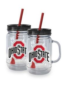 Boelter  20-oz. NCAA Ohio State Buckeyes 2-pack Straw Tumbler with Handle