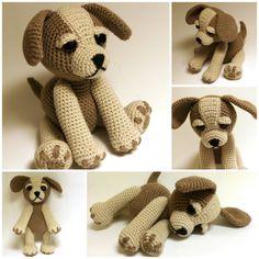 Crochet Pattern  Sammy the Puppy Dog Crochet dog by Zizidora