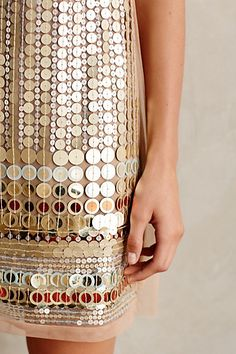 Disc-Beaded Shift - anthropologie
