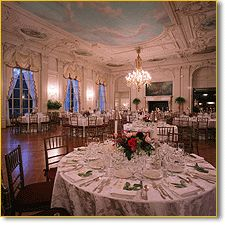 Reception at the Rosecliff Ballroom in Newport RI! AH! I would love for this to happen!