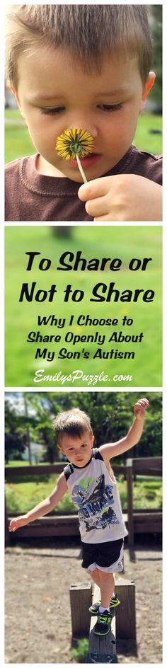 How much information is too much?  Why I choose to share about my son's autism.  #autism #socialmedia  EmilysPuzzle.com