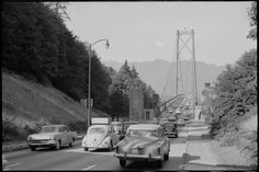 Vancouver History: Photographer Stanley Triggs - A Collection of Historical Photos from the Vancouver Public Library Archives Vancouver Bc Canada, Lions Gate, Stanley Park, Volkswagen Beetles, New West, Historical Pictures, Retro Futurism, Life Photo
