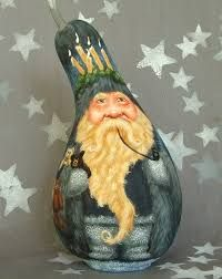 Image result for hand painted santa gourd