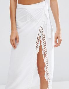 c919b2f1a3f55 ASOS Fringed Wrap Front Beach Sarong at asos.com. Sarong SkirtSarong WrapBeach  Cover UpsBeach Cover Up ...