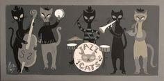 El Gato Gomez Retro Mid Century Modern 1950 039 s Beatnik Jazz Cats Aristocats Eames   eBay