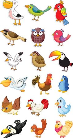 Funny animals vector clip art ideas for 2019 Cartoon Cartoon, Cartoon Birds, Drawing For Kids, Art For Kids, Kids Vector, Clip Art, Free Vector Graphics, Vector Vector, Cute Birds