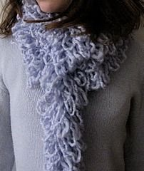 Loopy yarn scarf, no knitting required. Use your sewing machine instead!  By Little Treasures.  (photo credit: Little Treasures)