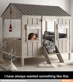 Totally doing this for my daughter! How awesome! It's like the ultimate indoor fort...okay, now I want one!