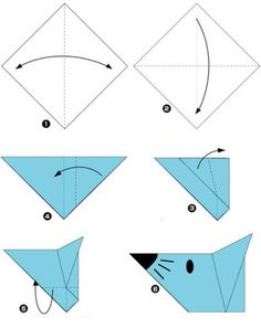 cz – Origami – naučte se skládat papír, návody, galerie – Origami Community : Explore the best and the most trending origami Ideas and easy origami Tutorial Easy Origami For Kids, How To Make Origami, Simple Origami, Origami Ideas, Origami Cat Instructions, Origami Tutorial, Origami Stars, Origami Flowers, Gato Origami