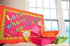 "Owl Classroom Decorations.  ""Look whooooo's in our class!""  Great for classroom door or bulletin board"