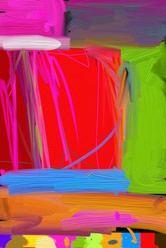 Abstract painting - Inner city - abstract painting by martin howard , via Flickr