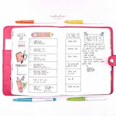 """Want to move your love for stationery to your Bullet Journal? Check out my September """"Back To School"""" themed Bullet Journal setup! Cover page, weekly log, monthly recap and a few more pages for you to get inspired to give a try to this fun theme. #mashaplans #bulletjournal #backtoschool #bujo Back To School Bullet Journal, Bullet Journal How To Start A, Bullet Journal Themes, Bullet Journal Inspiration, My Journal, Journal Pages, Journal Ideas, Blackout Book, Beautiful Notebooks"""