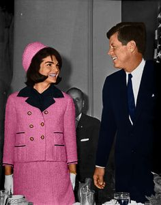 The morning of November 22, 1963. Jackie was late to a breakfast at their hotel, Hotel Texas, in Fort Worth and caused a little stir when she walked into the room.