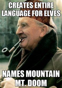 Tolkien:  British sense of humour = infinite win.