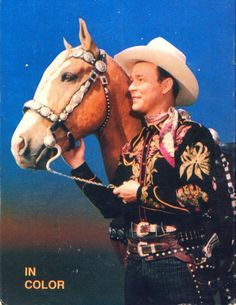 Roy Rogers wearing his Nudie Cohn outfit. . .lookin' good there Trigger!