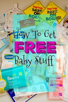 How To Get Free Baby Stuff-It's EASY! This list includes free baby samples for expecting mothers, free baby stuff for newborns and even free baby stuff for new moms! Don't miss out on these FREEBIES!