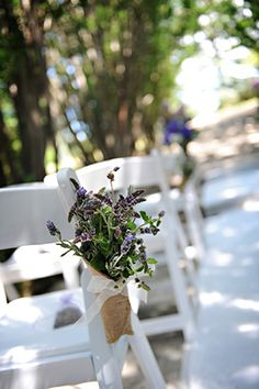 burlap wedding A Rustic Purple Wedding with Burlap Touches