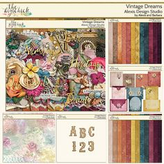 VINTAGE DREAMS from Alexis Design Studio  is for everyone who enjoys the fine art of heritage scrapping! This collection is filled to the brim with vintage findings you may discover at antique shoppes, or estate sales. Perfect time to pull out those treasured photos to scrap with!  Find this elegant digital scrapbooking kit exclusively at The Digi Chick  http://www.thedigichick.com/shop/Vintage-Dreams-Collection.html