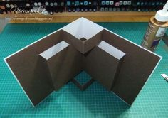cardmaking video: Make a pop out for the inside of your 6x6 card ... great fun fold ...