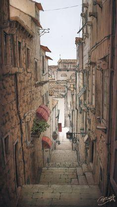 European-style streets! - pixiv Spotlight