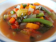 "Zero Fat Soup Veggie Soup  								This is a delicious way to lose weight! There are three variations so you never have to get tired of the same old thing! Adopted from ""Moosewood Restaraunt New Classics"" cookbook. Enjoy!"