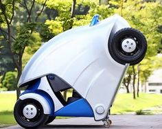 micro electric car folds like an armadillo