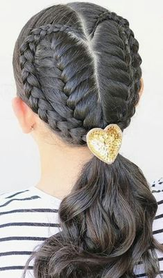 Baby Girl Hairstyles, Cute Hairstyles, Braided Ponytail Hairstyles, Plaits, Hair Videos, Braid Styles, Hair Designs, Hairdresser, Stylists