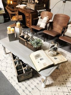 Simple and Salvaged Home Decor. The Little Burlap Barn. Theater Seats, Painted Coffee Tables, Chalk Paint Furniture, Annie Sloan Chalk Paint, Farmhouse Style Decorating, Vintage Items, Burlap, Barn, Simple