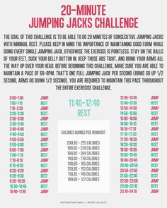 20 minute jumping jack challenge.  and when this gets easy try this 20 minute jumping jack video: http://www.youtube.com/watch?v=sRDmKd5G8m4