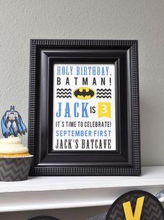 Batman Birthday Subway Art @Alison & @Katie...how cute is this?