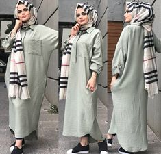 Modest Fashion Hijab, Hijab Style Dress, Casual Hijab Outfit, Hijab Chic, Abaya Fashion, Fashion Outfits, Islamic Fashion, Muslim Fashion, Muslim Girls
