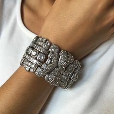 With great Art Deco bracelets you know they are genuine the second you pick them up. The weight of the platinum mount, the smooth edges and beautiful articulation of the piece, leaves you in no doubt about its age, even with your eyes closed. @christiesjewels @christiesinc #christiesjewels #christiesinc #christies #artdeco #diamond #platinum #bracelet #throwback #tb