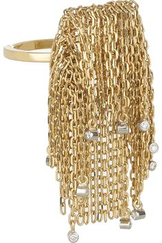 Solange Azagury-Partridge|Fringe 18-karat gold diamond ring|NET-A-PORTER.COM
