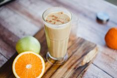 Gesztenyés narancsos smoothie   Lila füge Healthy Dishes, Healthy Recipes, Dairy Free, Gluten Free, Warm Food, Glass Of Milk, Sugar Free, Smoothie, Drinks