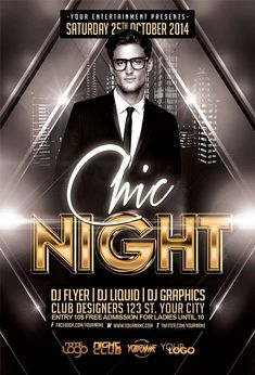 Free Chic Night Free Flyer Template…