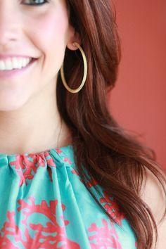 Sheila Fajl Favorite Gold Tone Hoops | MARY & MAK