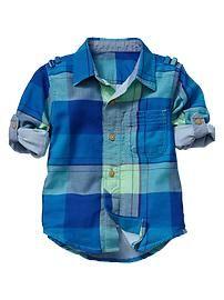 Convertible plaid shirt Toddler Boys, Baby Kids, Teen Boys, Toddler Fashion, Boy Fashion, Fashion Outfits, Baby Boy Outfits, Kids Outfits, Kids Dress Shoes