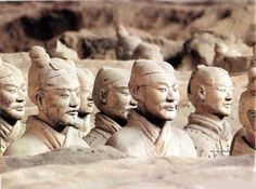 Terra Cotta Warriors, China. In 1974, while digging a well in the city of Xi'an, Chinese farmers discovered an underground tomb filled with 8,000 statues of ancient Chinese warriors. Created around 221 B.C., these 8,000 terra cotta warriors are said to guard Emperor Qin's tomb.