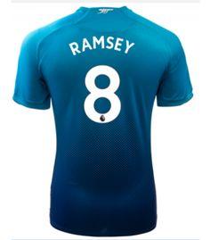 Adult #8 RAMSEY Arsenal Away Blue Soccer Jersey 2017/18 Arsenal Jersey, Soccer, Sweatshirts, Sports, Sweaters, Blue, Shopping, Tops, Futbol